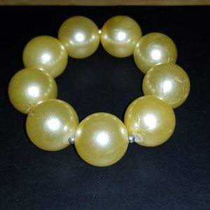Vintage Extra Large Pearls Stretch Bacelet3